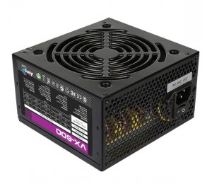 AeroCool 600W VX-600 Power Supply - ATX 12V v2.3, 120mm Fan, High-End SECC with Black Powdercoated