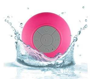 Amaze Bluetooth Waterproof Shower Speaker And Hand-free With Built-in Lithium Battery Pink