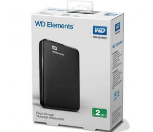 """Western Digital Elements Portable 2.5"""" 3tb External Usb3.0 Hard Drive (black) 2yr Wdbu6y0030bbk-ms"""