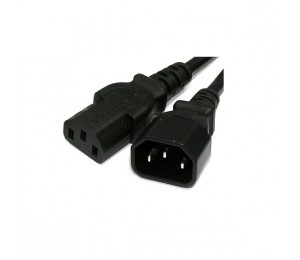 Wicked Wired 1.8m Standard Male IEC To Standard Female IEC Power Extension Cable WW-P-PCEXT180CM 183072
