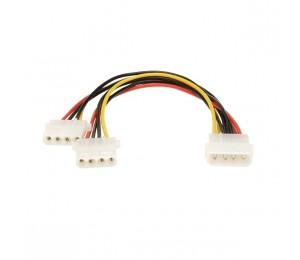 Wicked Wired 30cm Male 4pin Molex To Dual Female 4pin Molex Power Splitter Cable Ww-p-pc3psplit30cm 183063
