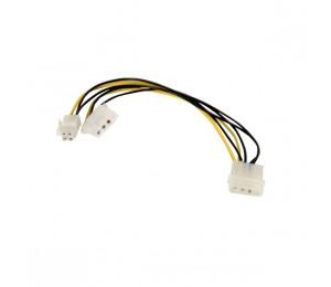 Wicked Wired 30cm Male 4pin Molex To Female 4pin Molex & 4pin P4 Power Adapter Cable Ww-p-pcatxp430cm 183064