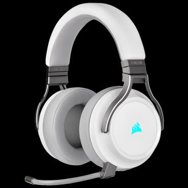 Corsair VIRTUOSO RGB WIRELESS High-Fidelity Gaming Headset — White (AP) (Ca-9011186-Ap)