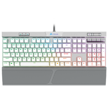 Corsair K70 Speed Mechanical Gaming Keyboard Backlit Rgb Led Silver W/ White Pbt Double-Shot Keycaps Ch-9109114-Na