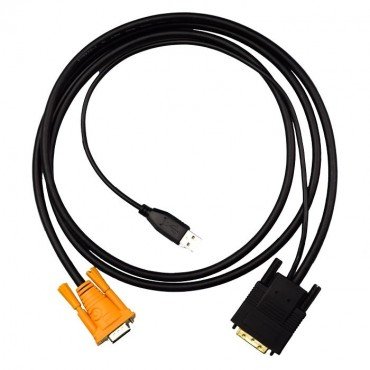 4Cabling 1.8M Kvm Vga-Dvi Convert Digital Signal Cable Vga-Dvi24