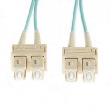 4Cabling 0.5M Sc-Sc Om4 Multimode Fibre Optic Cable: Aqua