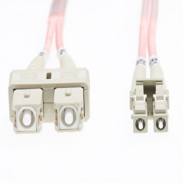 4Cabling 2M Lc-Sc Om1 Multimode Fibre Optic Cable: Salmon Pink 2Mm