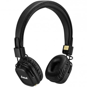Marshall Major II Bluetooth Headphones, Wireless On-Ear, 30+ Hours Playtime, Built-in Mic and Control Knob 04091378