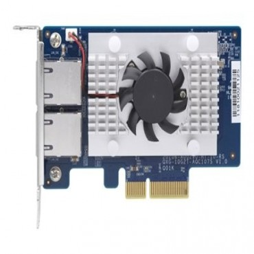 Qnap Dual Port 10Gbase-T N Etwork Card Low-Profile Pcie2.0 X4 Slots For Qnap And Pc Qxg-10G2T-107