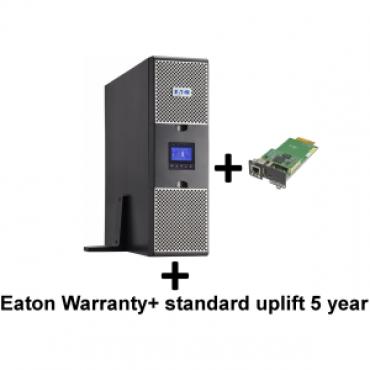 EATON 9PX 1000VA RACK/TOWER 10AMP + Warranty+ standard uplift 5 year: 9 seri + Gigabit Network Card (3973757 + 2681793 + 43343)