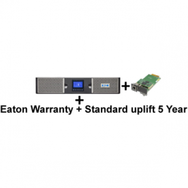 Eaton 9PX 3000VA 2U Rack/Tower, 16Amp In + Warranty+ standard uplift 5 year: 9 seri + Gigabit Network Card (3974547 + 2681795 + 43343)
