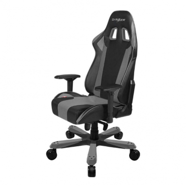 Dxracer King Ks06 Gaming Chair Black & Grey - Neck/Lumbar Support/Pu Leather/Large Size Seat/Office/Gaming Ergonomic/Head And Lumbar Support Pillows Oh/Ks06/Ng