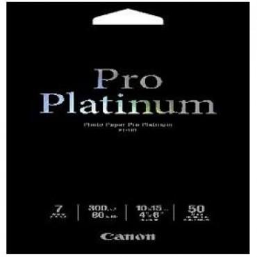 Canon Pt1014x6-50 50 Sheets, 4x6, 300gsm, Photo Paper Pro Platinum Pt1014x6-50