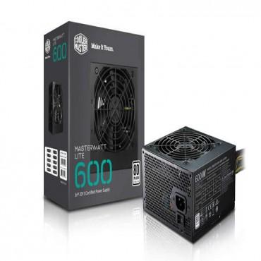 Coolermaster Masterwatt Lite 600w 80 Plus +12v Power Rail Silent 120mm Hdb Fan Mpx-6001-acabw-au