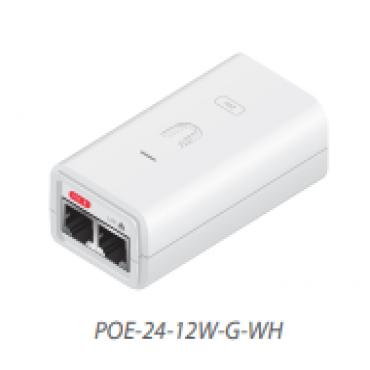 Ubiquiti Poe Injector 24Vdc 12W Gigabit Ethernet White Esd Protection & Led Poe-24-12W-G-Wh