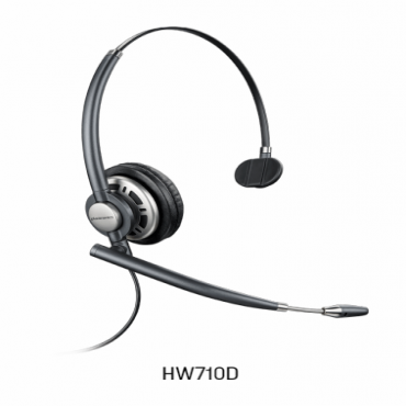 Plantronics Encorepro Hw710D Over-The-Head Monaural Digital Series Corded Headset Top 78715-101