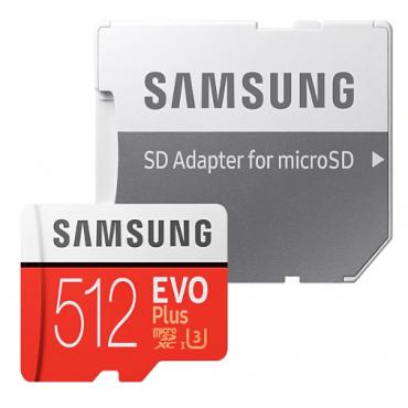 Samsung 512Gb Evo Plus Microsd 100Mb/ S 90M/ S 4-Proof Protection Uhs-I/ Hs/ Grade 3/ Class 10 Mb-Mc512Ga/Apc