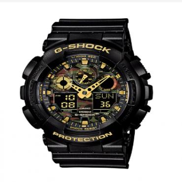 Casio G-Shock Analog-Digital Black Strap Watch Ga100Cf-1A9