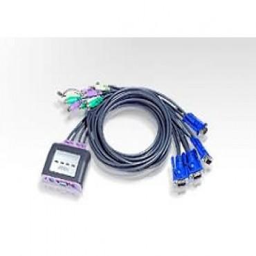 Aten Cs-64a 4 Port Petite Ps2 Kvm With Audio