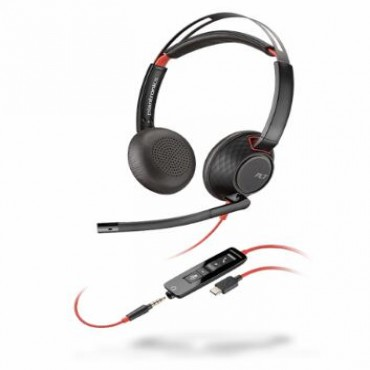 Plantronics Blackwire C5220 Stereo Uc Usb-c Headset W/ 3.5mm 207586-01