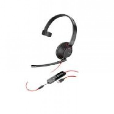 PLANTRONICS BLACKWIRE C5210 MONAURAL UC USB-C HEADSET W/ 3.5MM 207587-01