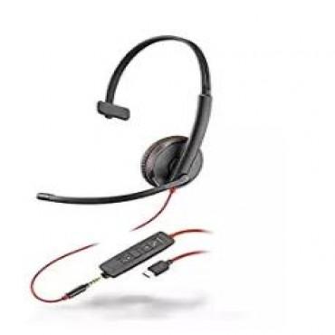 PLANTRONICS BLACKWIRE C3215 MONAURAL UC USB-A HEADSET W/ 3.5MM 209746-101