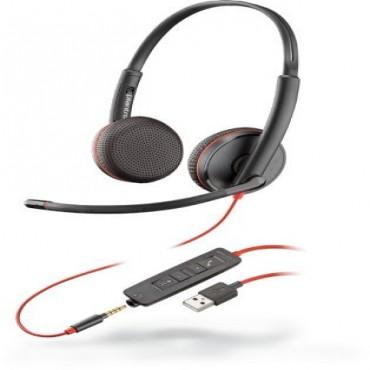 PLANTRONICS BLACKWIRE C3225 STEREO UC USB-A HEADSET W/ 3.5MM 209747-101