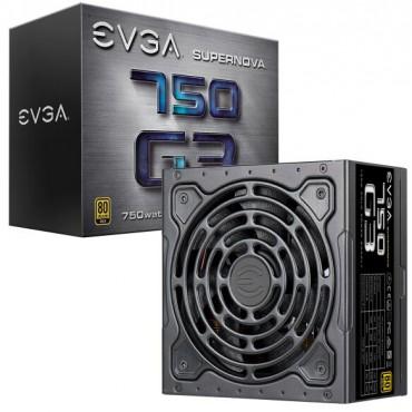 Evga Psu: 750w 80plus Gold 92% Supernova G3 Full Modular 130mm Fan 6x Pcie Multi Rail 220-g3-0750-x4