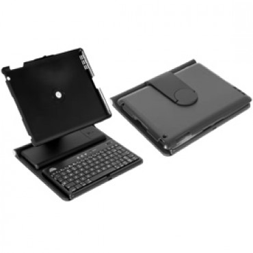 Amaze Ipad 2 Protective Leather Case With Bluetooth Keyboard, Black Colour, Adjustable Holder