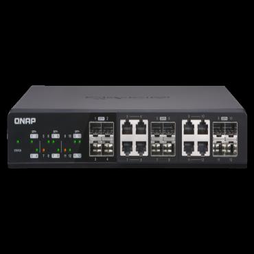 Qnap Qsw-1208-8C: Twelve 10Gbe Sfp+ Ports - QSW-1208-8C