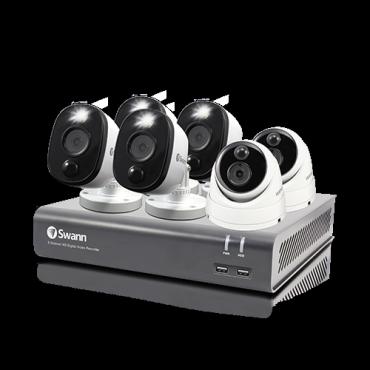 Swann 1080P DVR KIT 8X6 4FB+2D DVR8-4580V/1TB/2 X PRO-1080MSD DOME 4 X 1080MSFB SENSOR WARNING LIGHT SWDVK-84580V2D4FB-AU