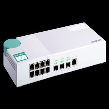 Qnap Qsw-308-1C 3-port 10G SFP+ and 8-port Gigabit Unmanaged Switch Qsw-308-1C