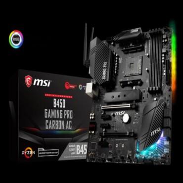 Msi Amd B450 Am4 Atx Gaming Motherboard Nahimic Audio Mystic Rgb 4xddr4 3x Pci-e X 1 1x Pci-e X