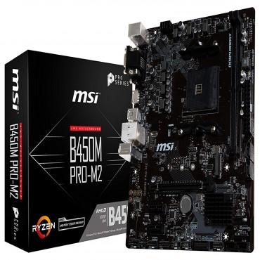Msi Amd B450 Am4 Matx Pro Motherboard 2Xddr4 2X Pci-E X 1 1X Pci-E X 16 D-Sub Dvi Hdmi 1X M.2 Gb