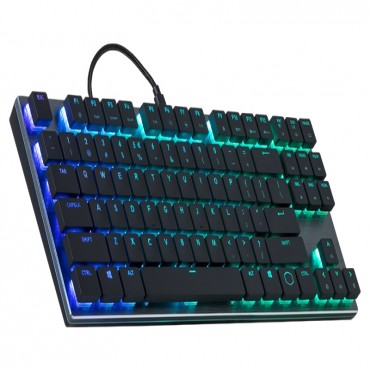 Cooler Master Masterkeys Sk630 Rgb Cherry Mx Low Profile Switches Mechanical Keyboard(Red Sk-630-Gklr1-Us