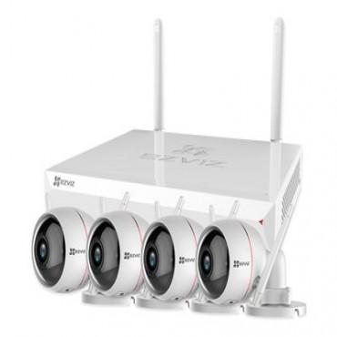 Ezviz Cs-Bw2824-B1E10 Wireless Camera System(8-Channel) 4 Cam Kit - 1 X X5C Nvr With 1Tb Cs-Bw2824-B1E10