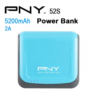 Pny Power Bank 52s Blue 5200mah 2 Usb Output 52s-blue