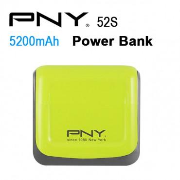 Pny Power Bank 52s Green 5200mah 2 Usb Output 52s-green