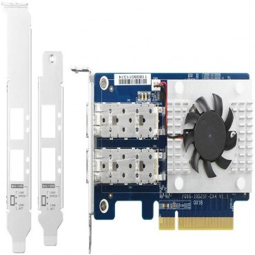 Qnap Dual-Port Sfp+ 10Gbe Network Expansion Card; Low-Profile Formfactor; Pcie Gen3 X8 Qxg-10G2Sf-Cx4