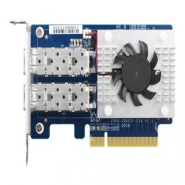 Qnap Dual Port 10Gbe Sfp+ Network Card Low-Profile Pcie Gen3 X8 Qxg-10G2Sf-Cx4