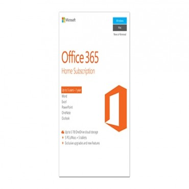 Microsoft Office 365 Home Subscription 5 Users-1 Year 6GQ-00752