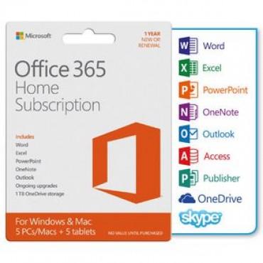 Microsoft Office 365 Home Mac/ Win No Dvd Retail Box 1yr Sub P4 (revised Packaging) 6gq-00929