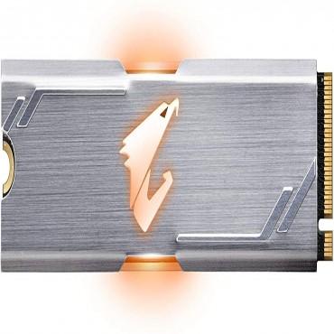 GIGABYTE Aorus Rgb Tlc Ssd M.2(2280) Nvme Pcie 3X4 512Gb Read:3480Mb/ S(360K Iops) Write:2000Mb/ S(440K Iops) 512Mb Ddr4 Cache 5.5W 5 Years Limited Warranty Gp-Asm2Ne2512Gttdr
