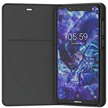 Nokia 5.1 Plus Flip Cover Black 8p00000015