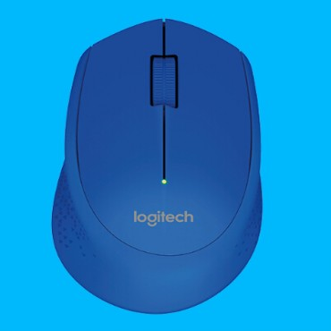 Logitech Wireless Mouse M280, 3 Button, Nano Receiver, Scroll Wheel, Colour: Blue, 1 AA battery