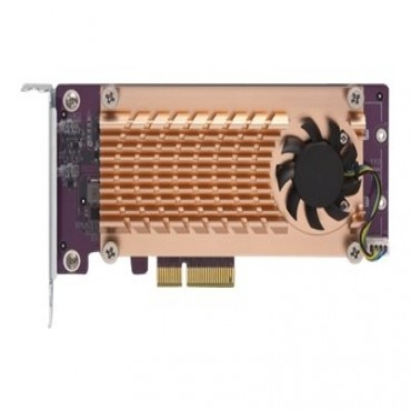 Qnap Dual M.2 22110/ 2280 Pcie Ssd Expansion Card (Pcie Gen2 X4) Qm2-2P-244A