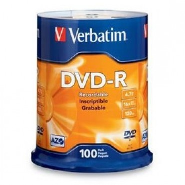 VERBATIM DVD-R 4.7GB 100Pk Spindle 16x 95102 225870