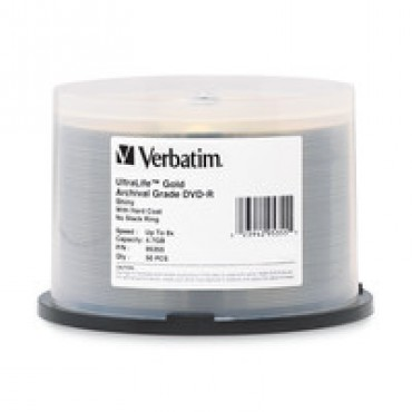 Verbatim 50 Pk Dvd-r 4.7gb Gold Archival Grade 8x Sp Hc 95355