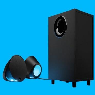 Logitech G560 Lightsync Pc Gaming Speakers Audio Visualise R Rgb Lighting Dts-1yr Wty 980-001303