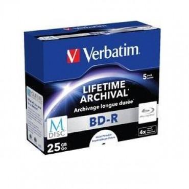 Verbatim M-disc Bdr 25gb 5pk Jc White Ij Printable 4x 43823
